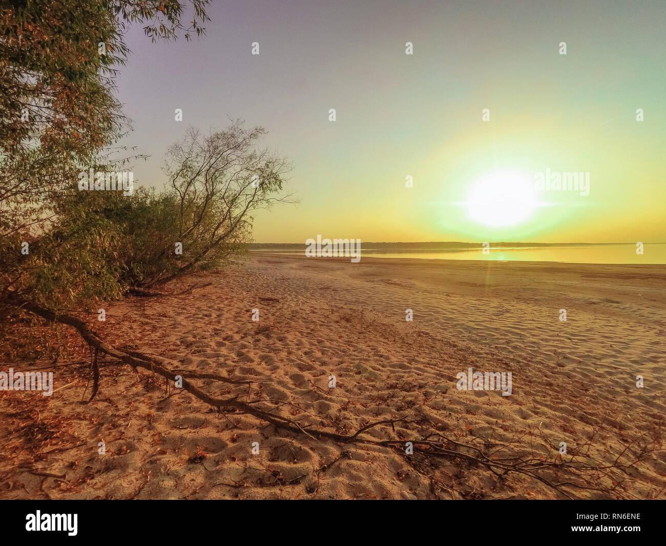 Incroyable sur la mer au coucher du soleil paysage close-up Banque D'Images