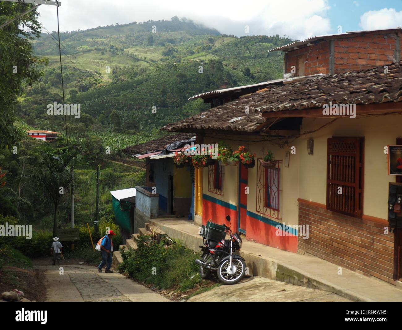 Rues De Jardin Colombie Banque D Images Photo Stock 236794465 Alamy