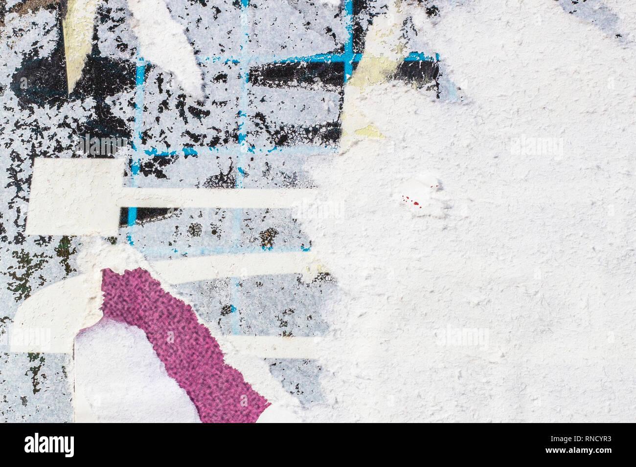 Affiches anciennes de papier froissé froissé déchiré déchiré grunge textures Toile Surface de milieux Photo Stock