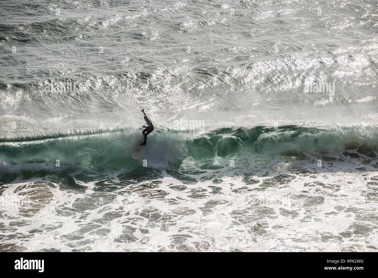 Surf Lifestyle, Sagres, Algarve, Portugal, Février 2019 Photo Stock