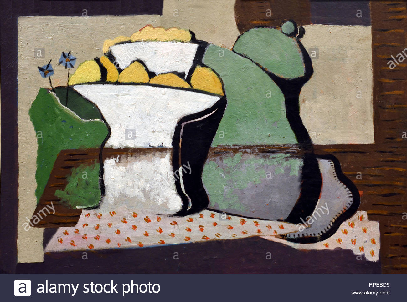 Citronniers Still Life 1924 par Jose Moreno Villa Espagne Espagnol.Peintre Photo Stock