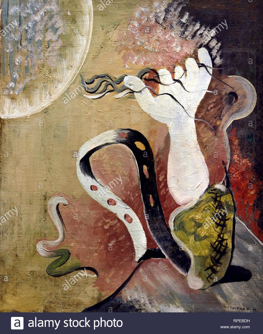 La composition avec la main et Serpent 1929 par Jose Moreno Villa Espagne Espagnol.Peintre Photo Stock