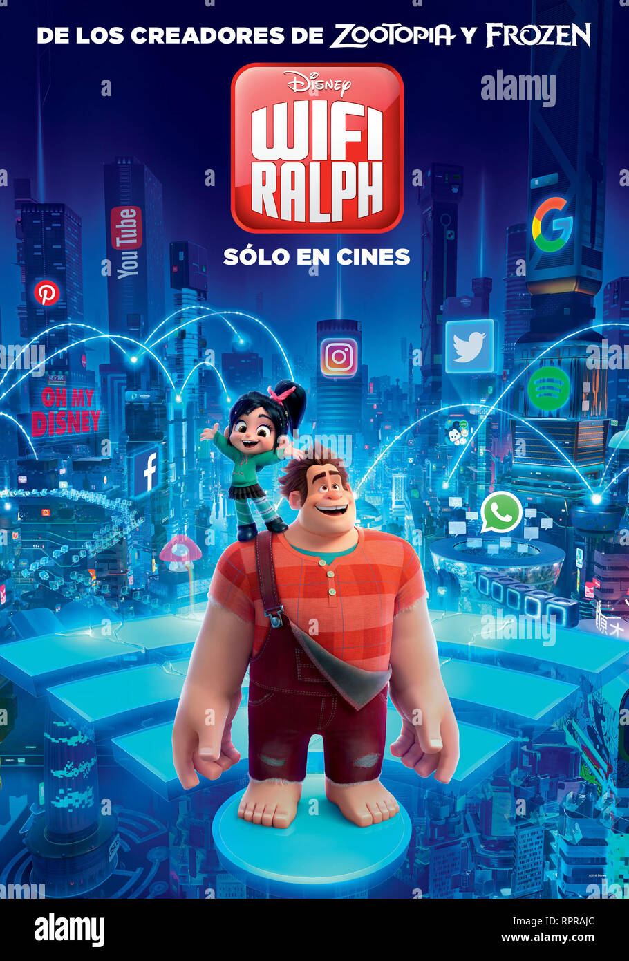 RALPH RALPH 2.0 CASSE LE 2019 INTERNET riche de Moore et Phil Johnston teaser argentin dessin anime ; animation ; cartoon Prod DB © Walt Disney animati Photo Stock