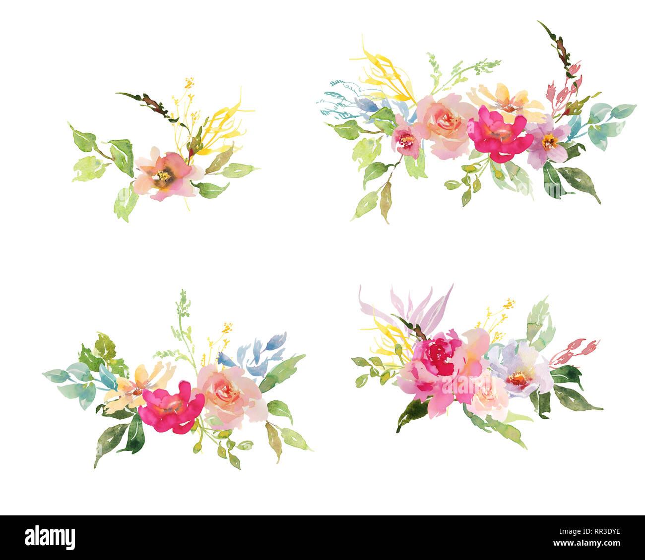 Bouquet De Fleurs Dessin Aquarelle - Get Images One
