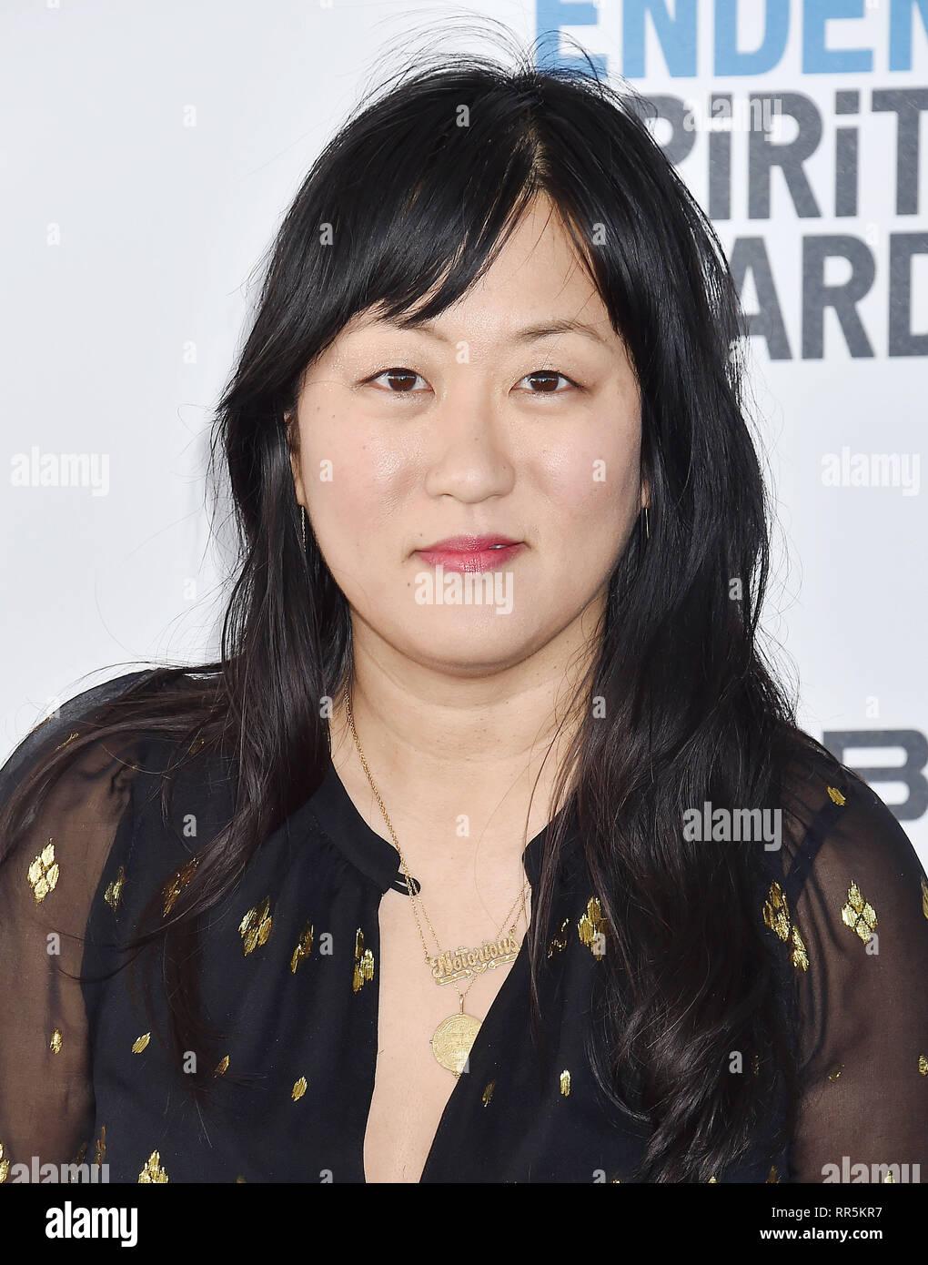 SANTA MONICA, CA - 23 février: Christina Choe assiste au Film Independent Spirit Awards 2019 sur la plage le 23 février 2019 à Santa Monica, Cali Photo Stock