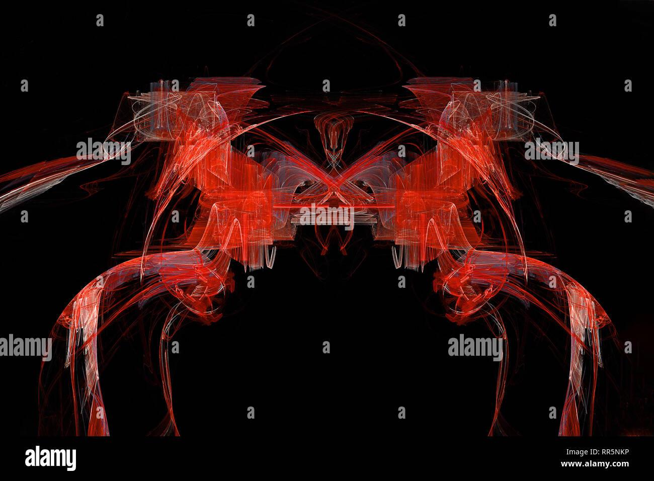 Les chevaux roux abstract fractal artistique Banque D'Images