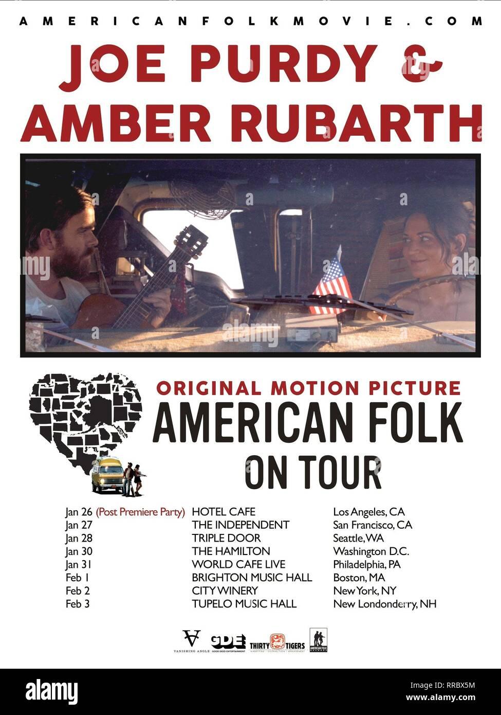 AMERICAN FOLK, 2017, affiche de film Photo Stock