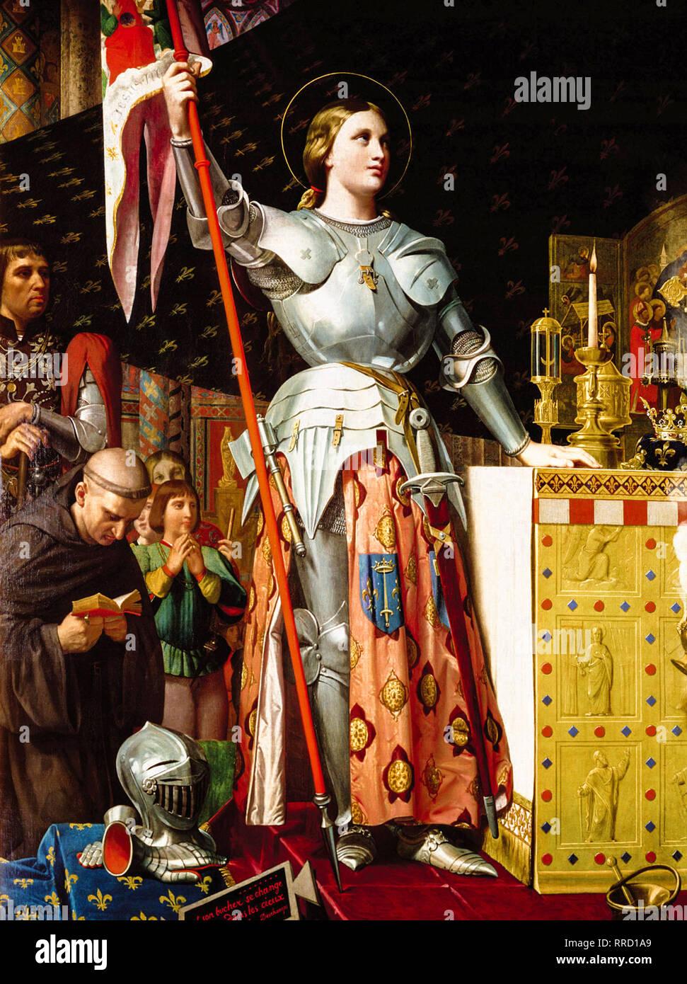 Jeanne D Arc Au Sacre De Charles Vii 1854 Jean Auguste Dominique Ingres Peinture Photo Stock Alamy