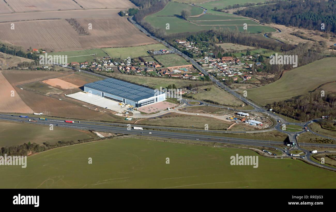 Nouveau développement à Blyth rond-point, les échanges sur le A1M près de Worksop Photo Stock