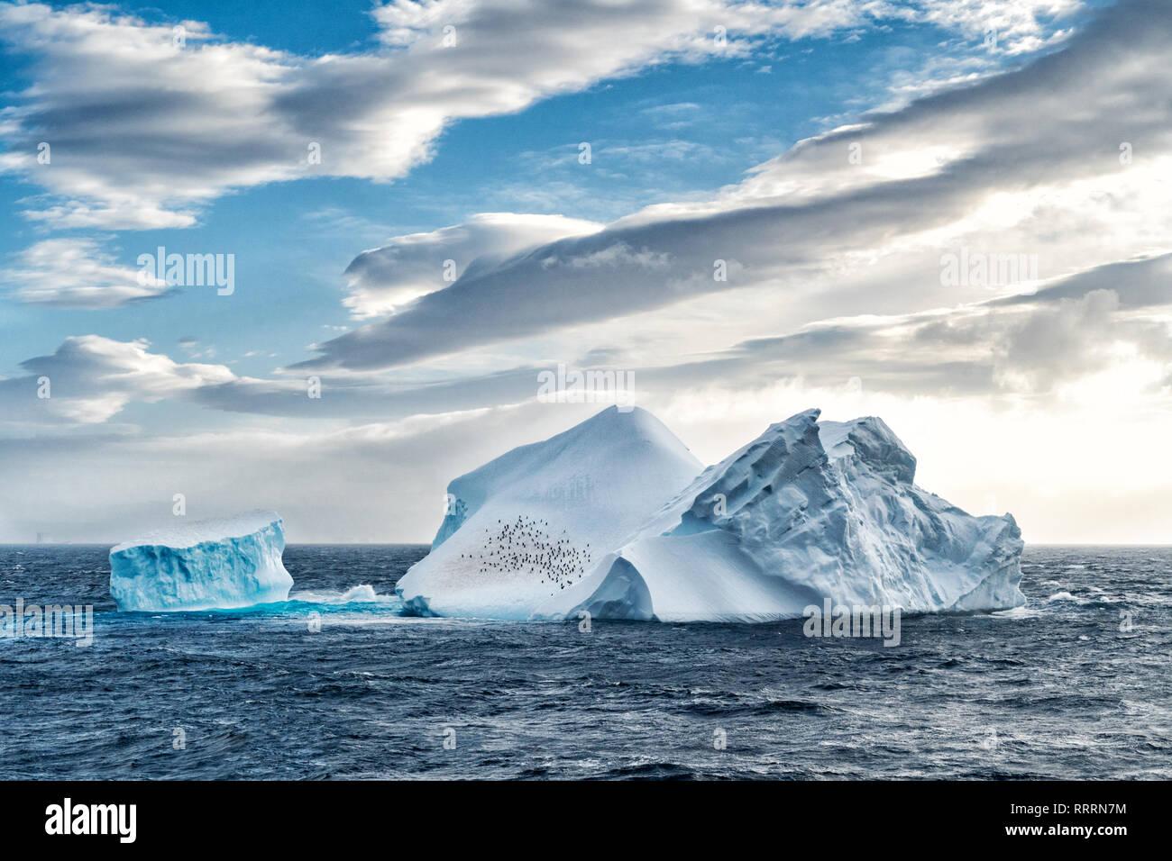 Iceberg en Antarctique mer Banque D'Images