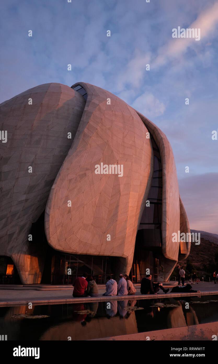 La communauté bahá'íe de la maison de l'Adoration de l'Amérique du Sud à Santiago de Chile Photo Stock