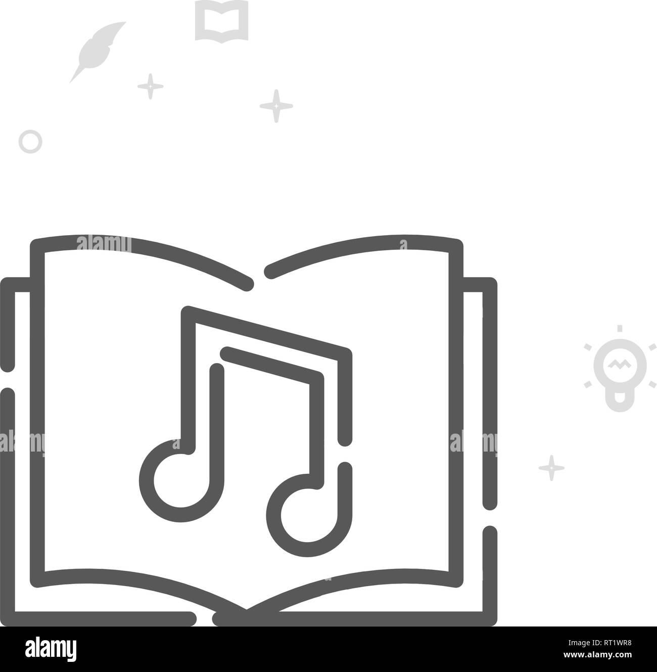 Livre Audio L Icone De La Ligne Du Vecteur Symbole