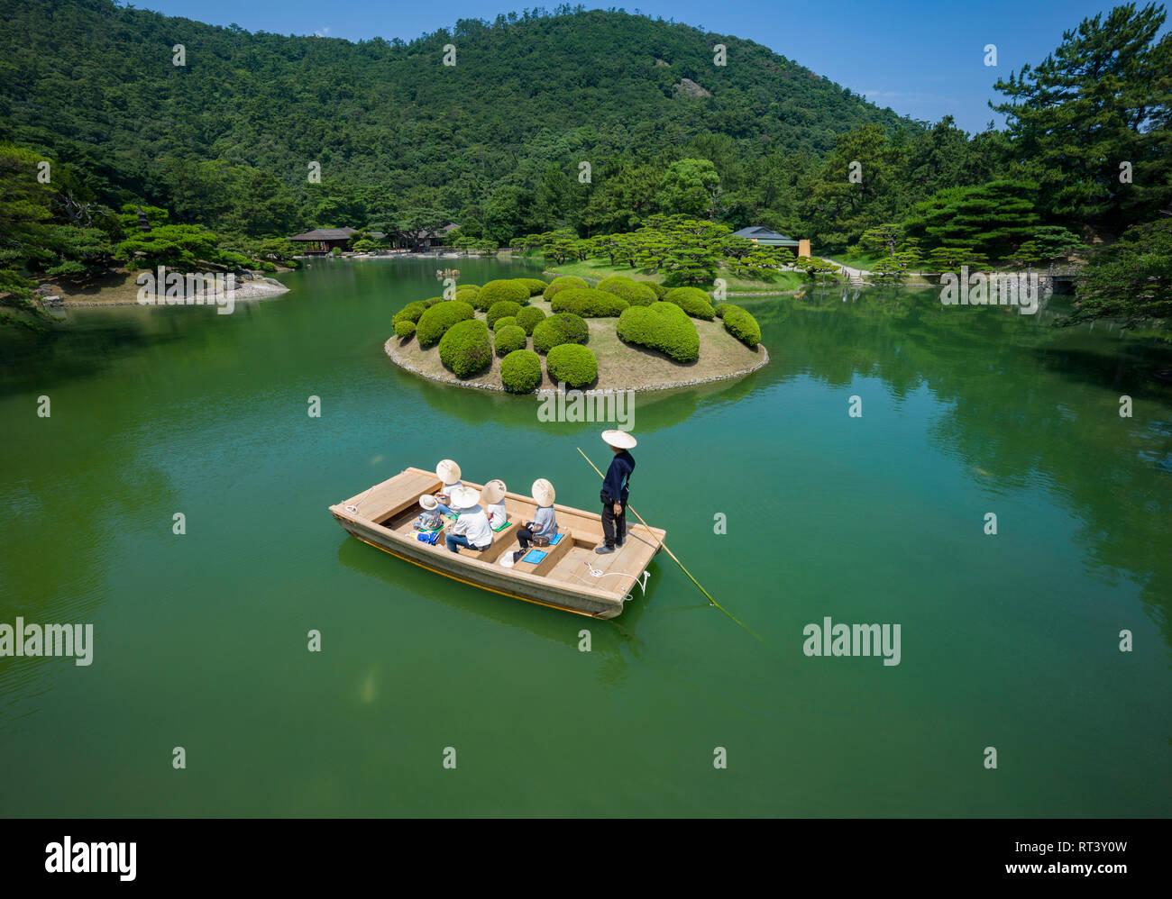 Ritsurin Gardens, Takamatsu, Shikoku, au Japon. Photo Stock