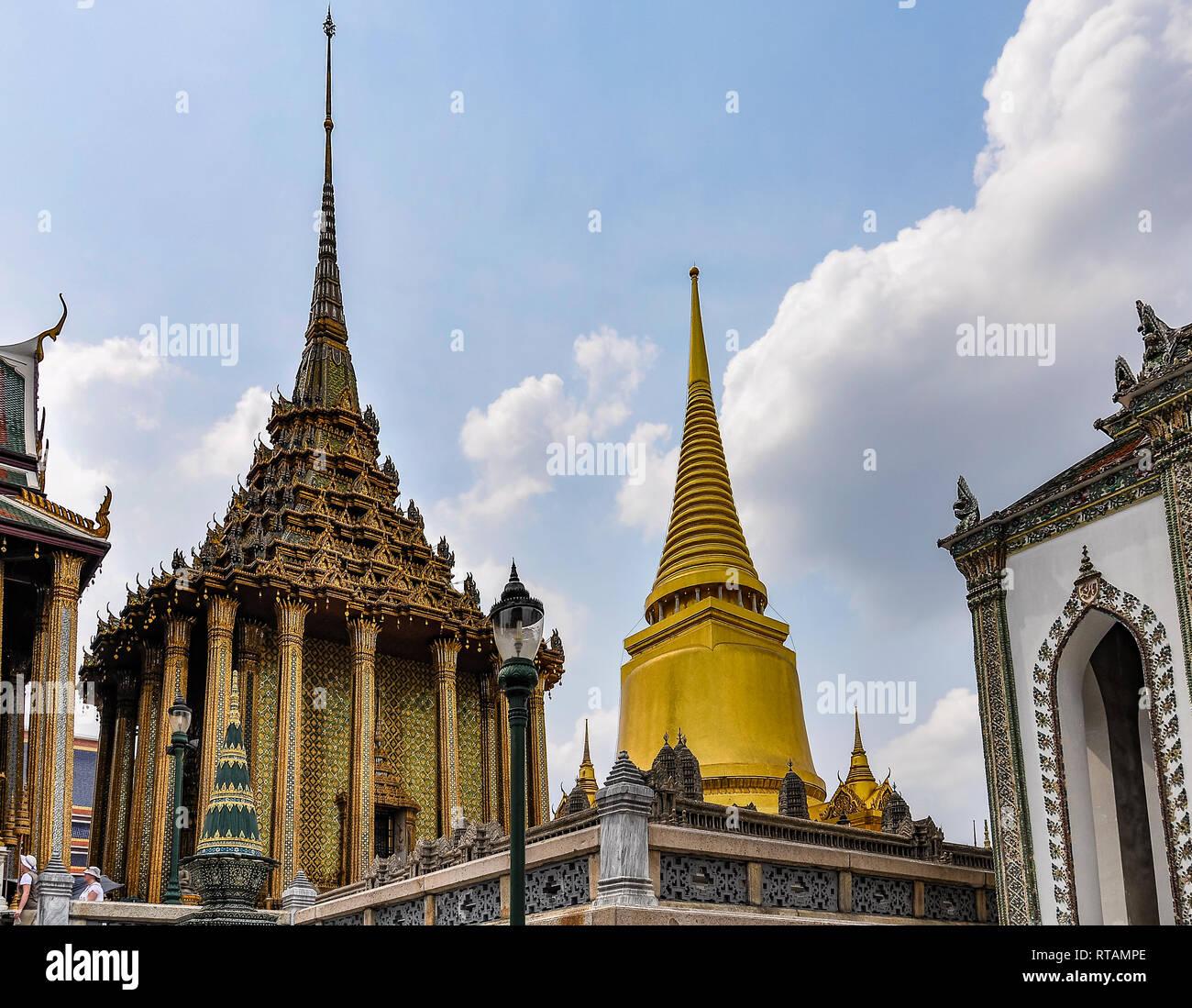 L'intérieur dans le Grand Palais à Bangkok, Thaïlande Banque D'Images