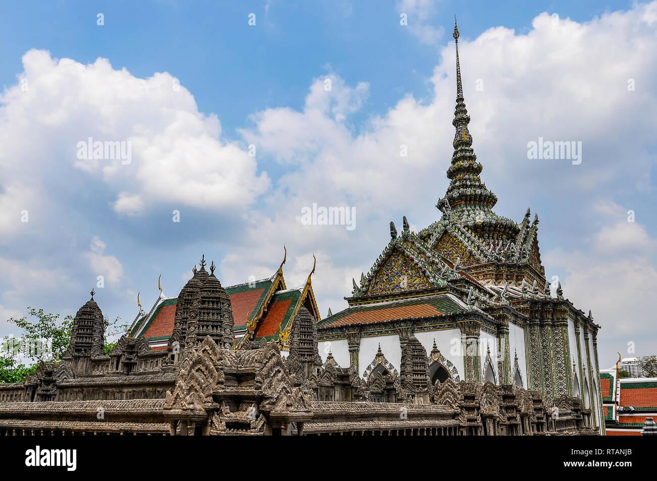Temple d'Émeraude dans le Grand Palais à Bangkok, Thaïlande Banque D'Images
