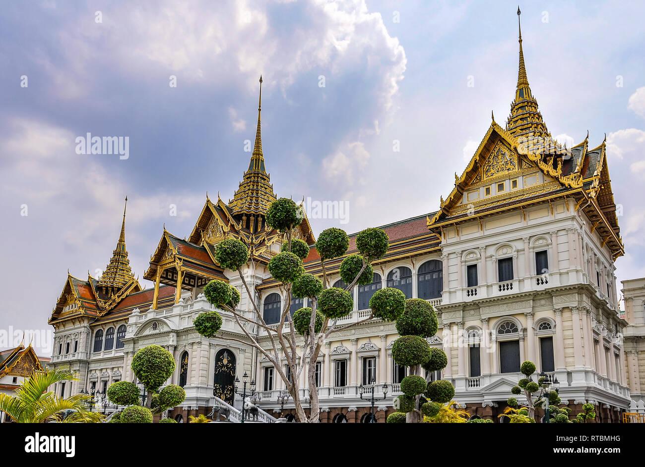 Phra Maha Montien dans le Grand Palais à Bangkok, Thaïlande Banque D'Images