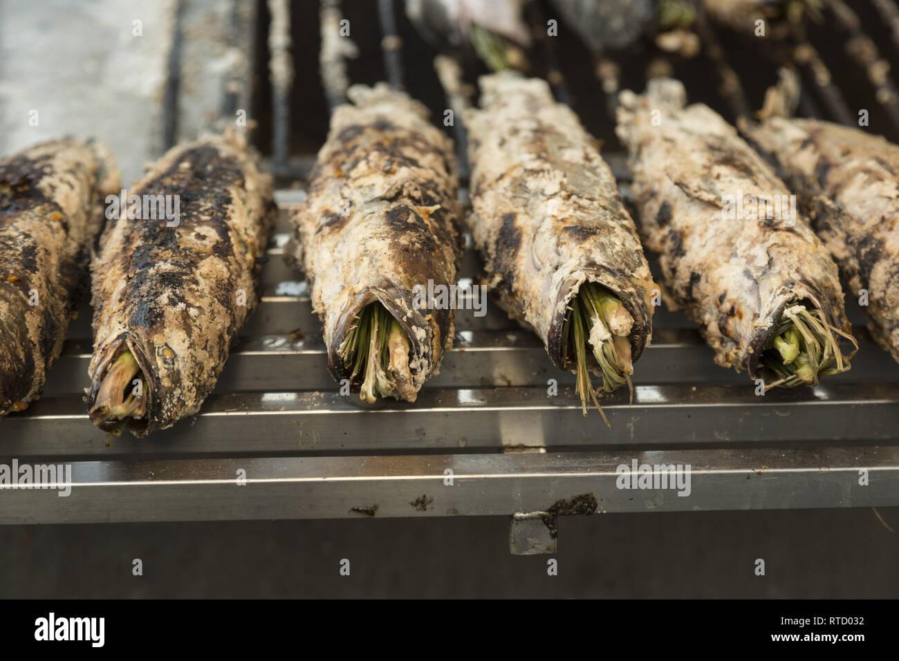 Poissons frits farcis Photo Stock