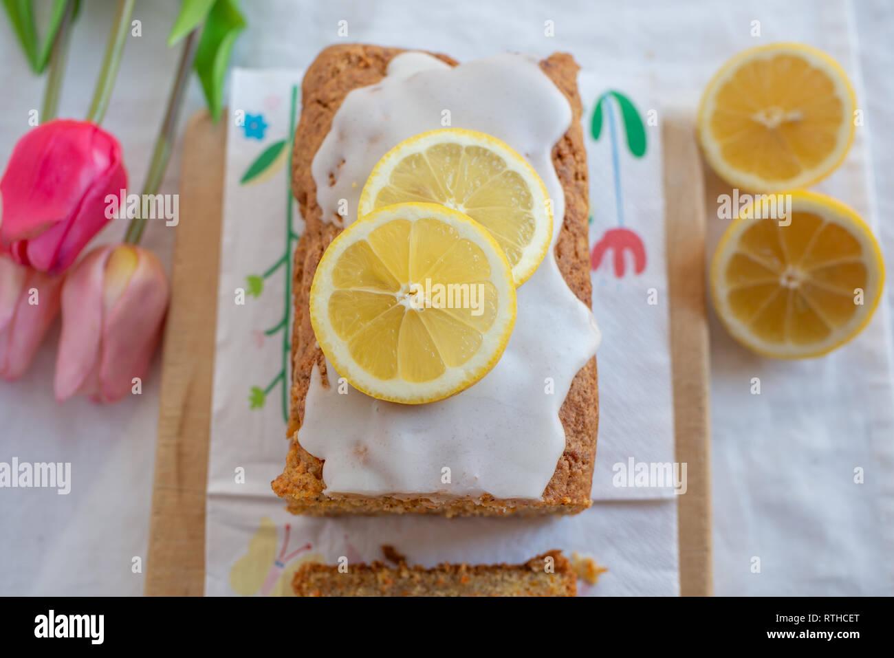 Cake au citron Banque D'Images
