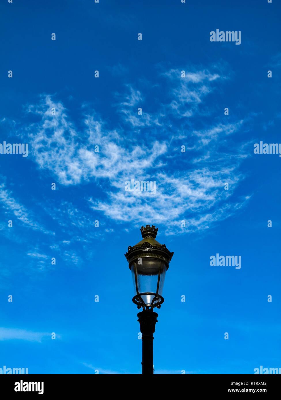 Un pôle d'éclairage sur une mission, Strasbourg, France. Photo Stock