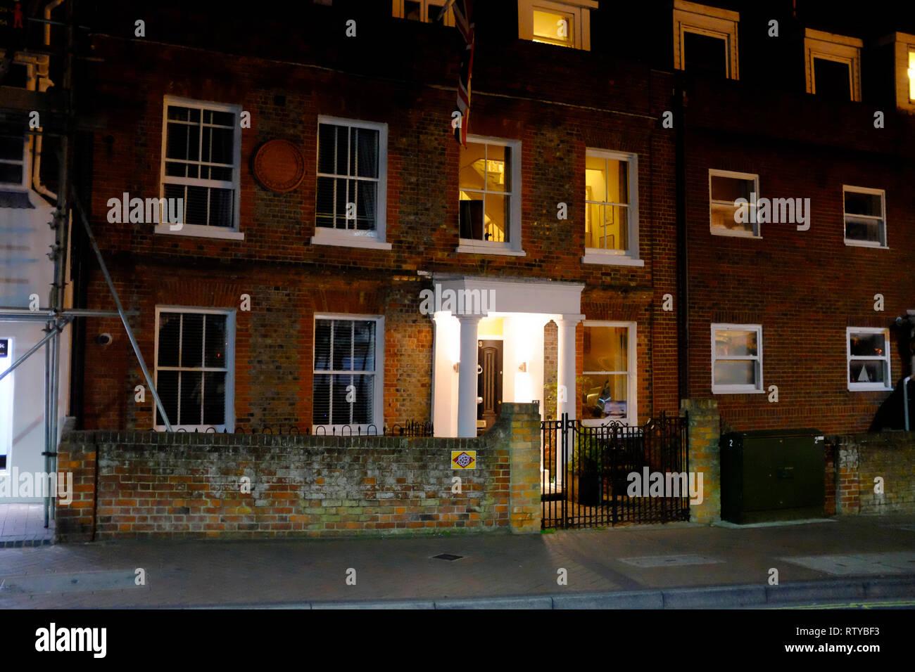 Westbourne House, né et vécu ici, Thomas, Arnold, Cowes, île de Wight, Angleterre, Royaume-Uni, Photo Stock