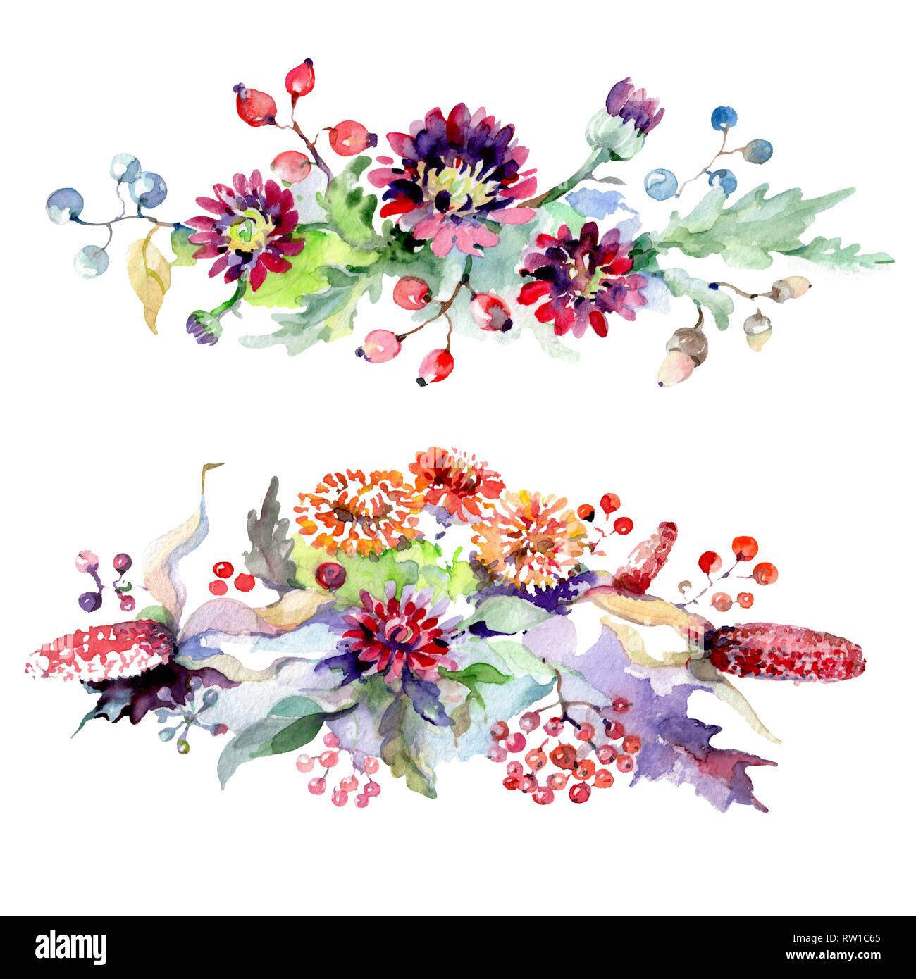 Bouquet De Fleurs Et De Baies Botanique Floral Fleur