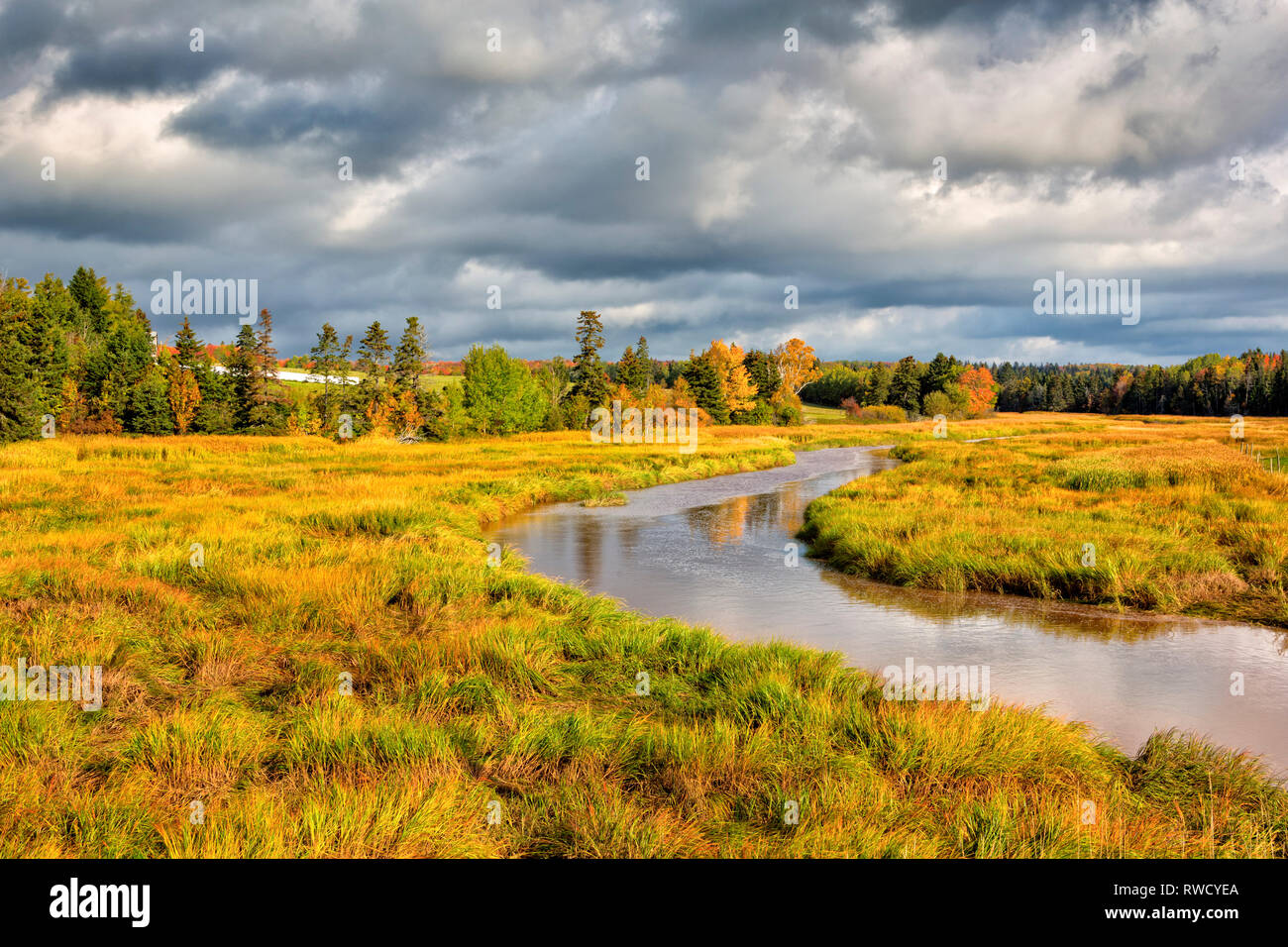 Clyde River, Prince Edward Island, canada Banque D'Images