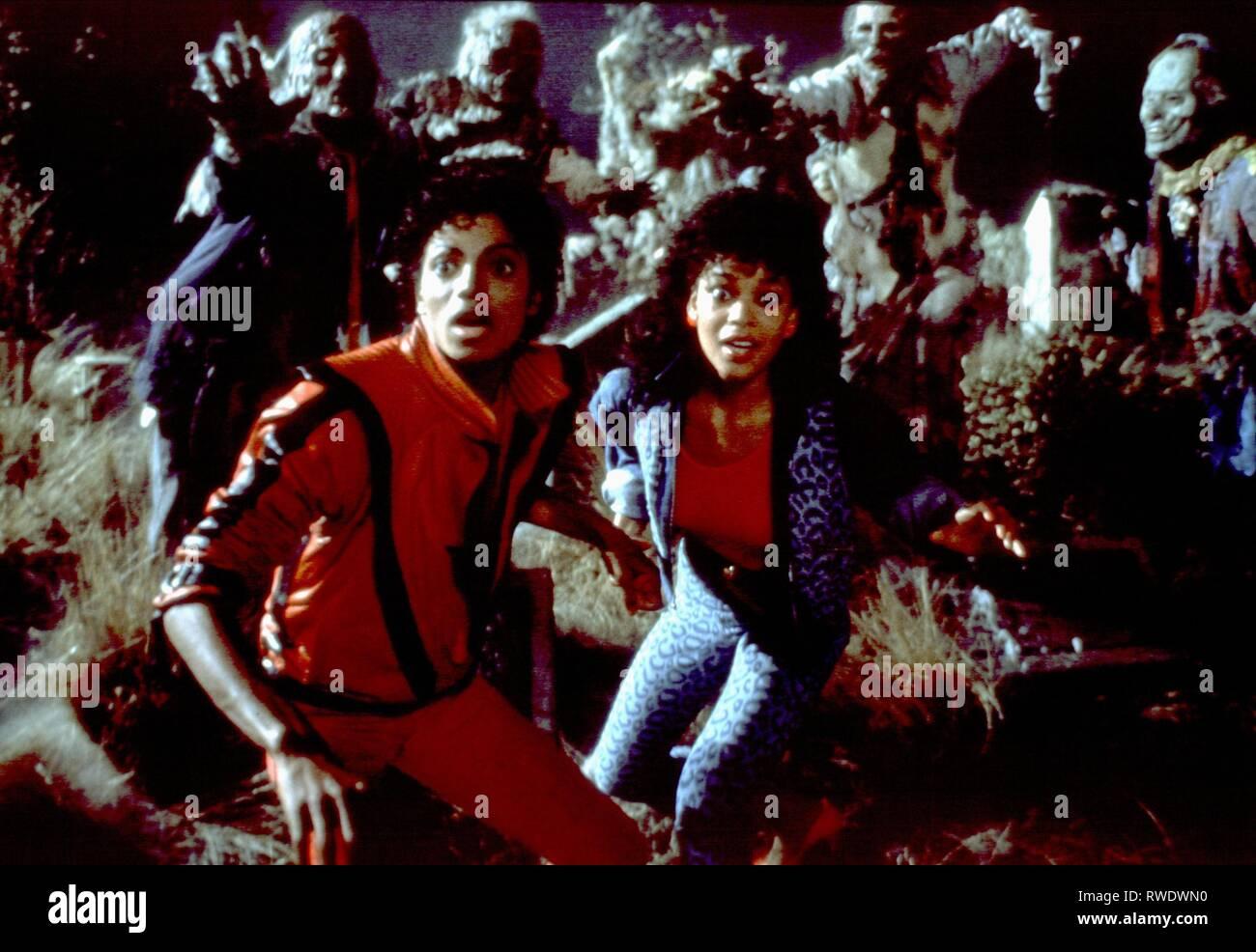 MICHAEL JACKSON,LLO RAY, thriller, 1983 Photo Stock