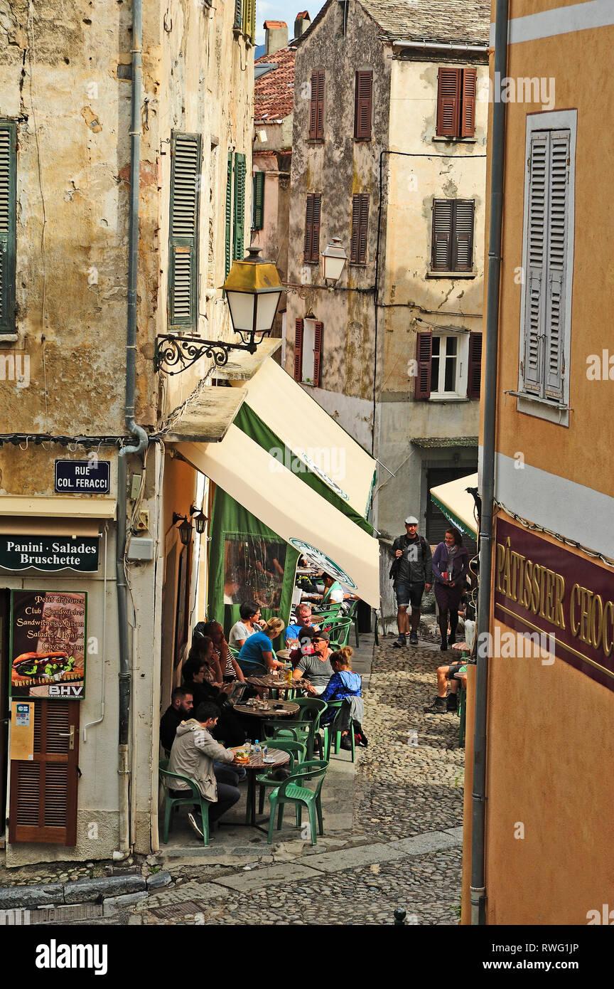Citadelle, Corte, Corse, France Banque D'Images