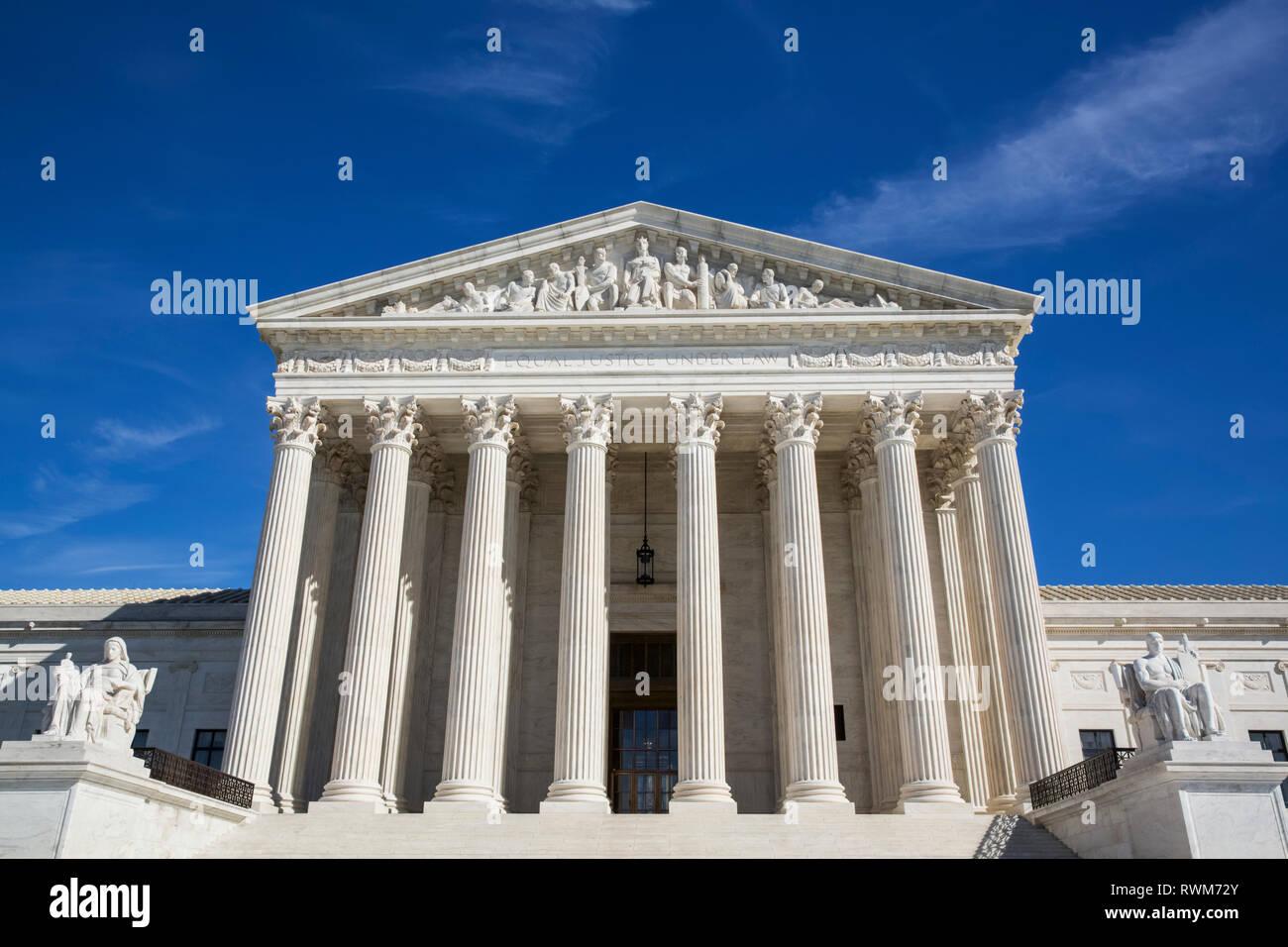 Bâtiment de la Cour suprême des États-Unis, Washington DC, États-Unis d'Amérique Banque D'Images