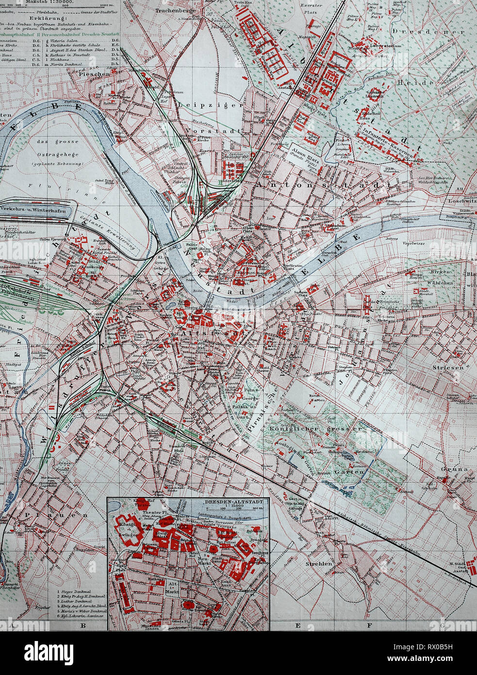 Vintage Map Of Dresden Photos Vintage Map Of Dresden