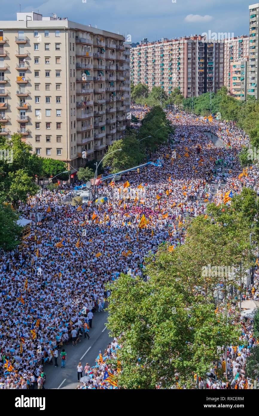 La fête nationale catalane 11/09/2015 Photo Stock