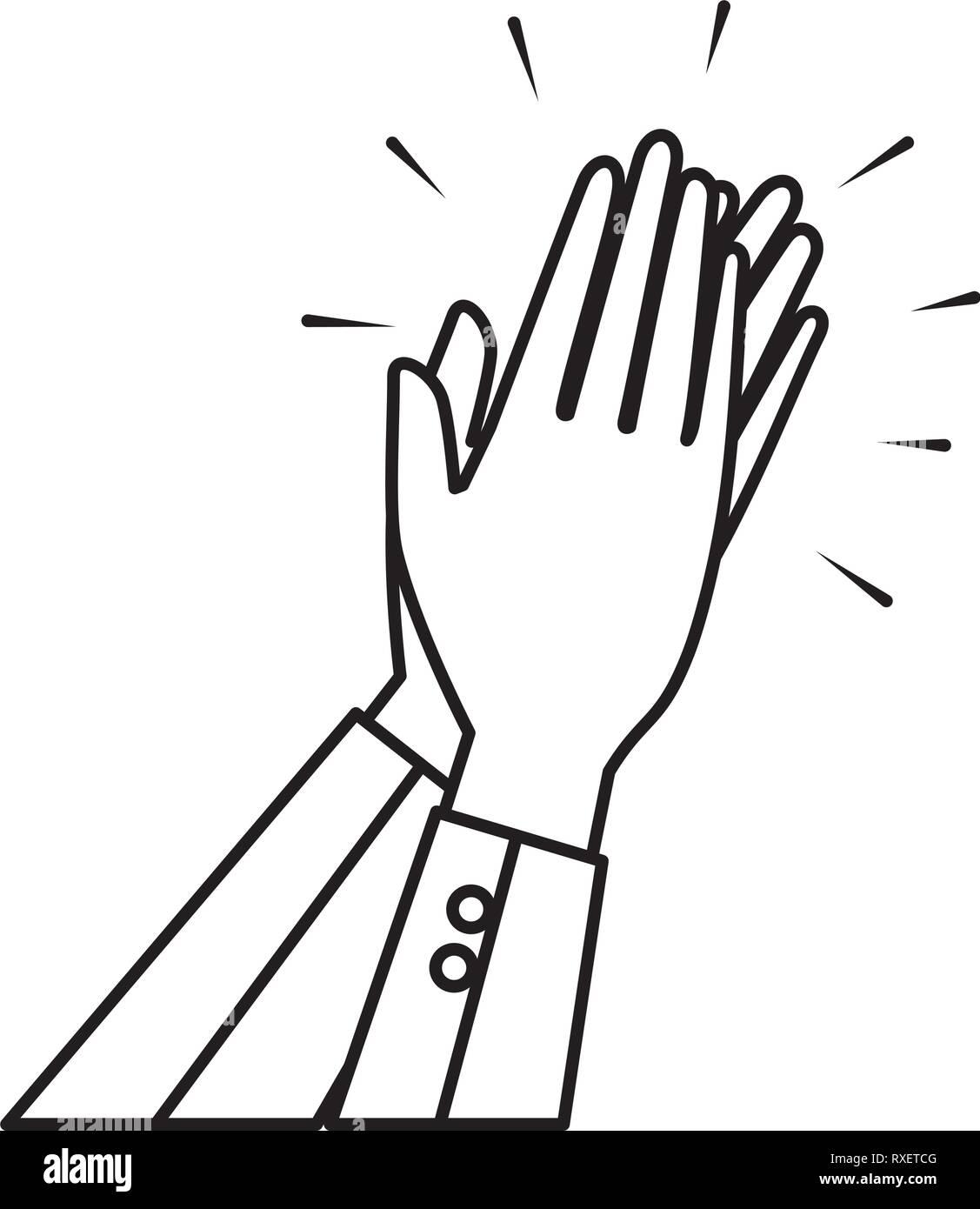 L'icône mains applaudissant Photo Stock