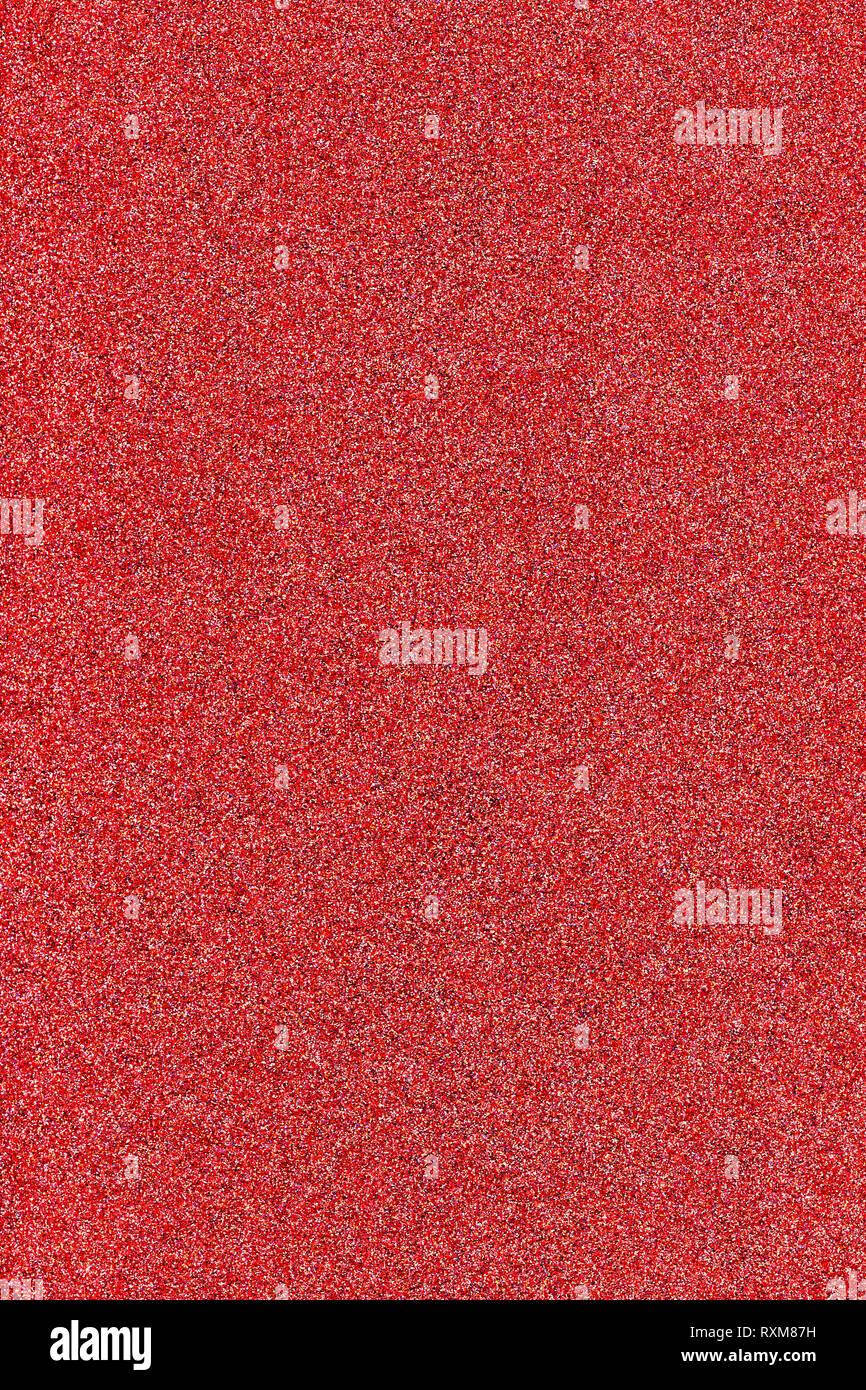 Glitter, brillant texture fond couleur corail vivant Photo Stock