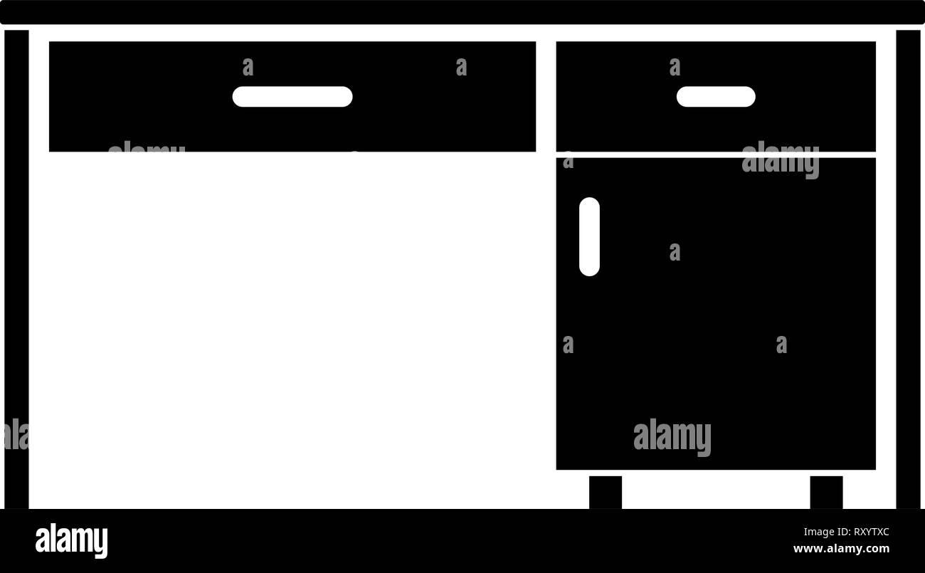 24 business office bureau table écrite au travail icône concept illustration vectorielle couleur noir style plat simple image Illustration de Vecteur