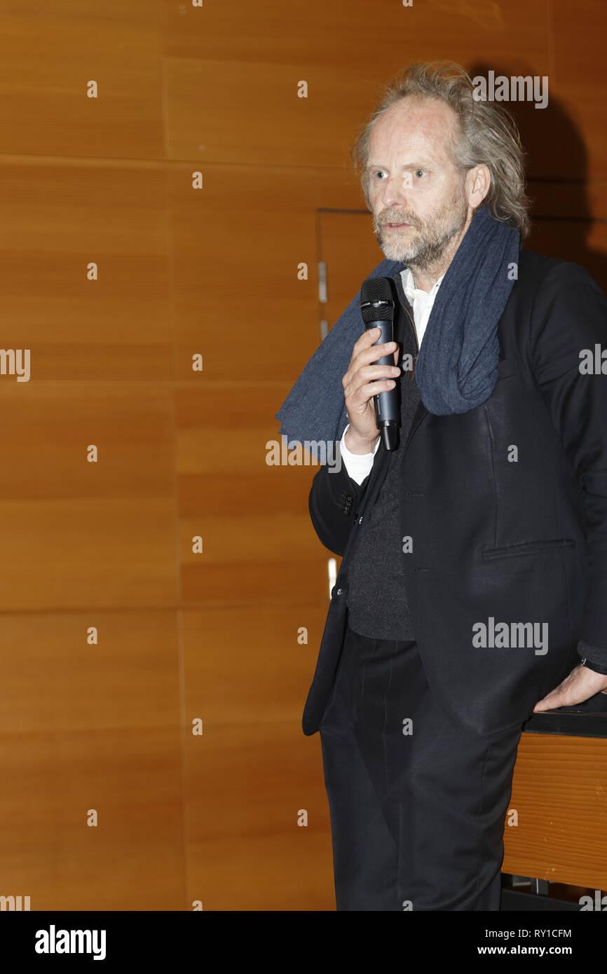Paris, France. Le 11 mars 2019. Philip Groning, réalisateur du film - c'est le nom de mon frère Robert et il est trop bête, présent à l'essai à l'Institut Goethe,le 11 mars 2019, Paris, France.Credit:Veronique Phitoussi/Alamy Live News Photo Stock