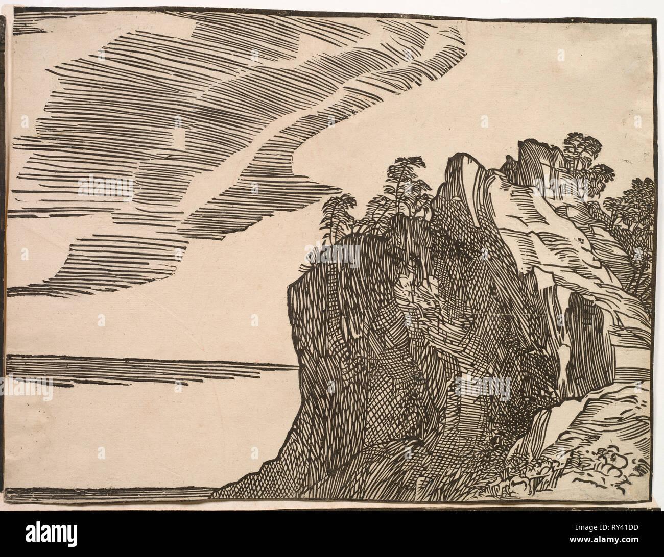 L'immersion de l'armée de Pharaon dans la mer Rouge, 1514-15 Photo Stock