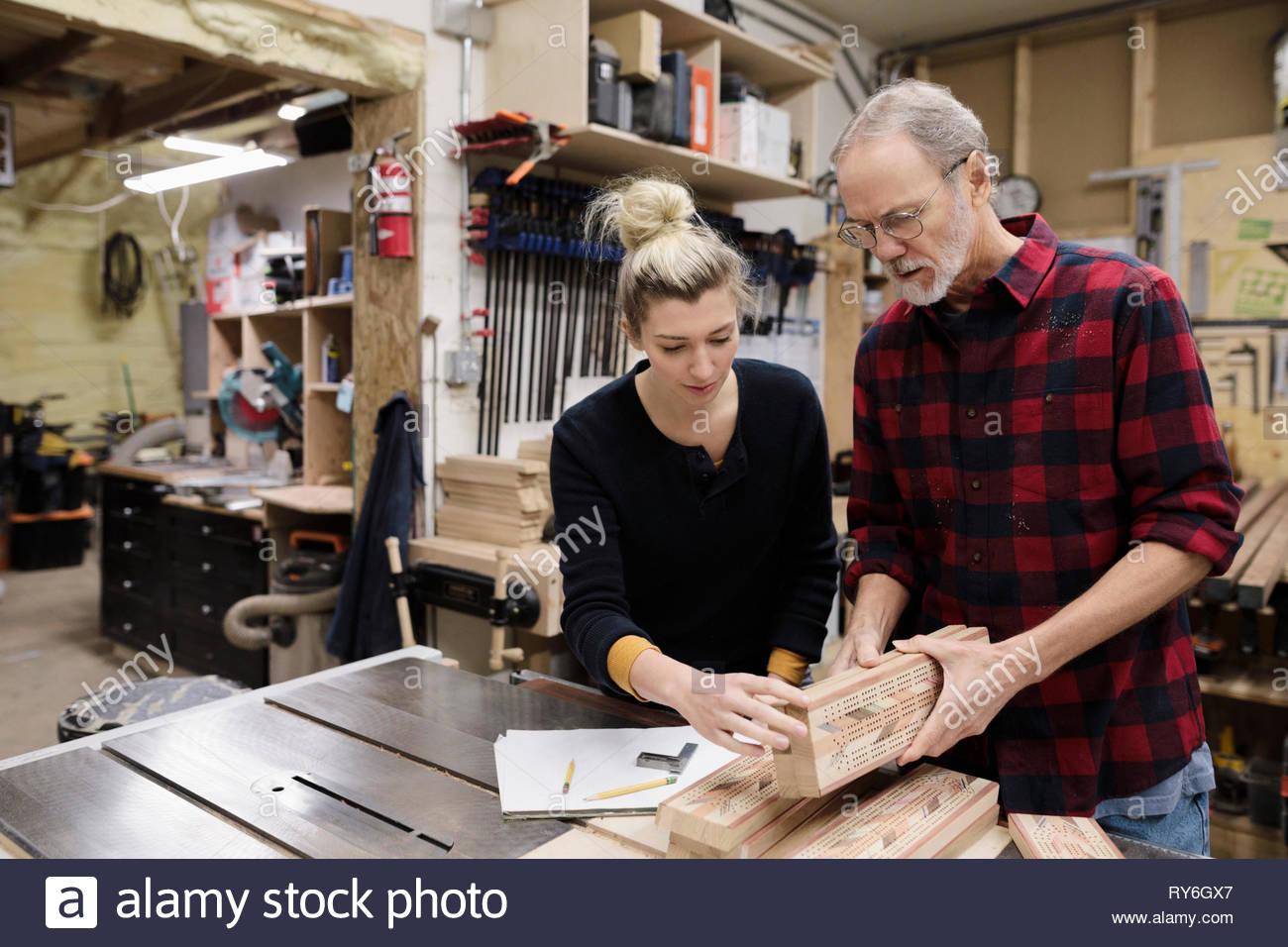 Les charpentiers de décisions des conseils de cribbage Photo Stock