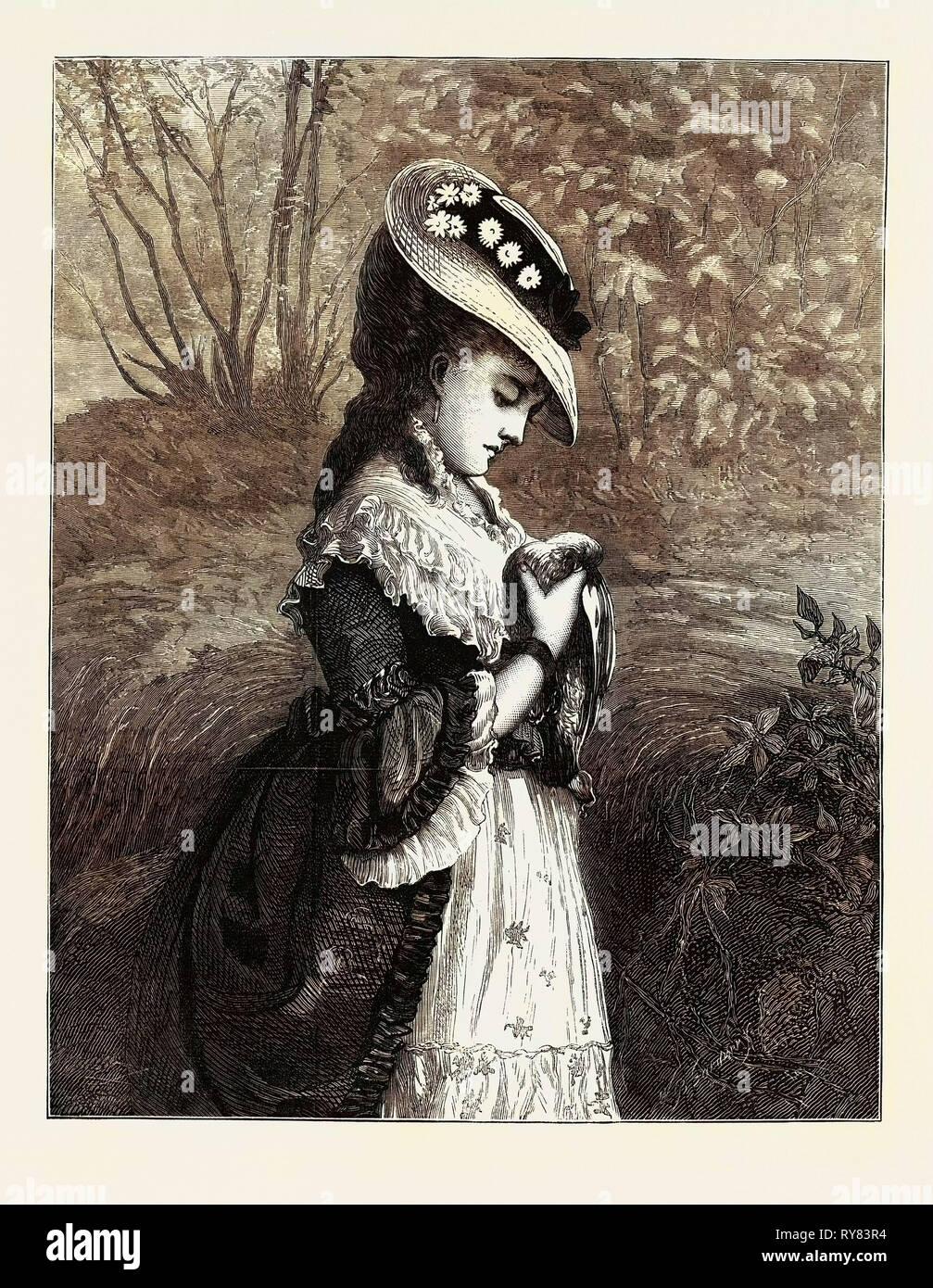 """""""L'hommage de sympathie en passant d'un soupir"""", dans l'exposition à la galerie 1873 Dudley Photo Stock"""