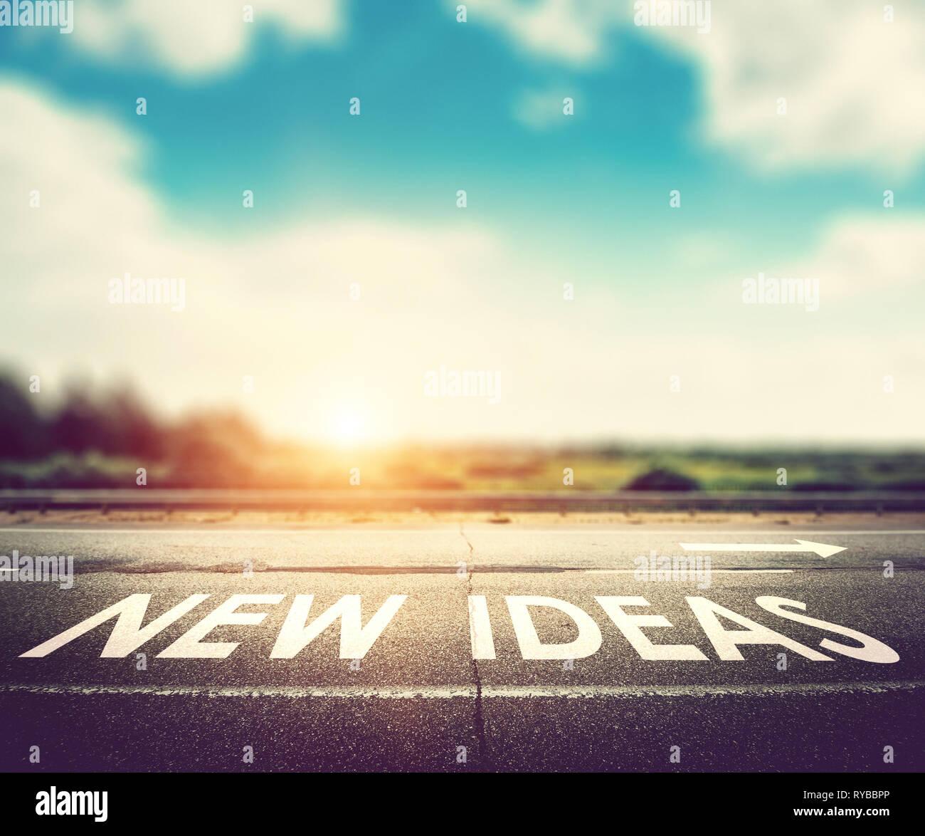 Concept de nouvelles idées Photo Stock