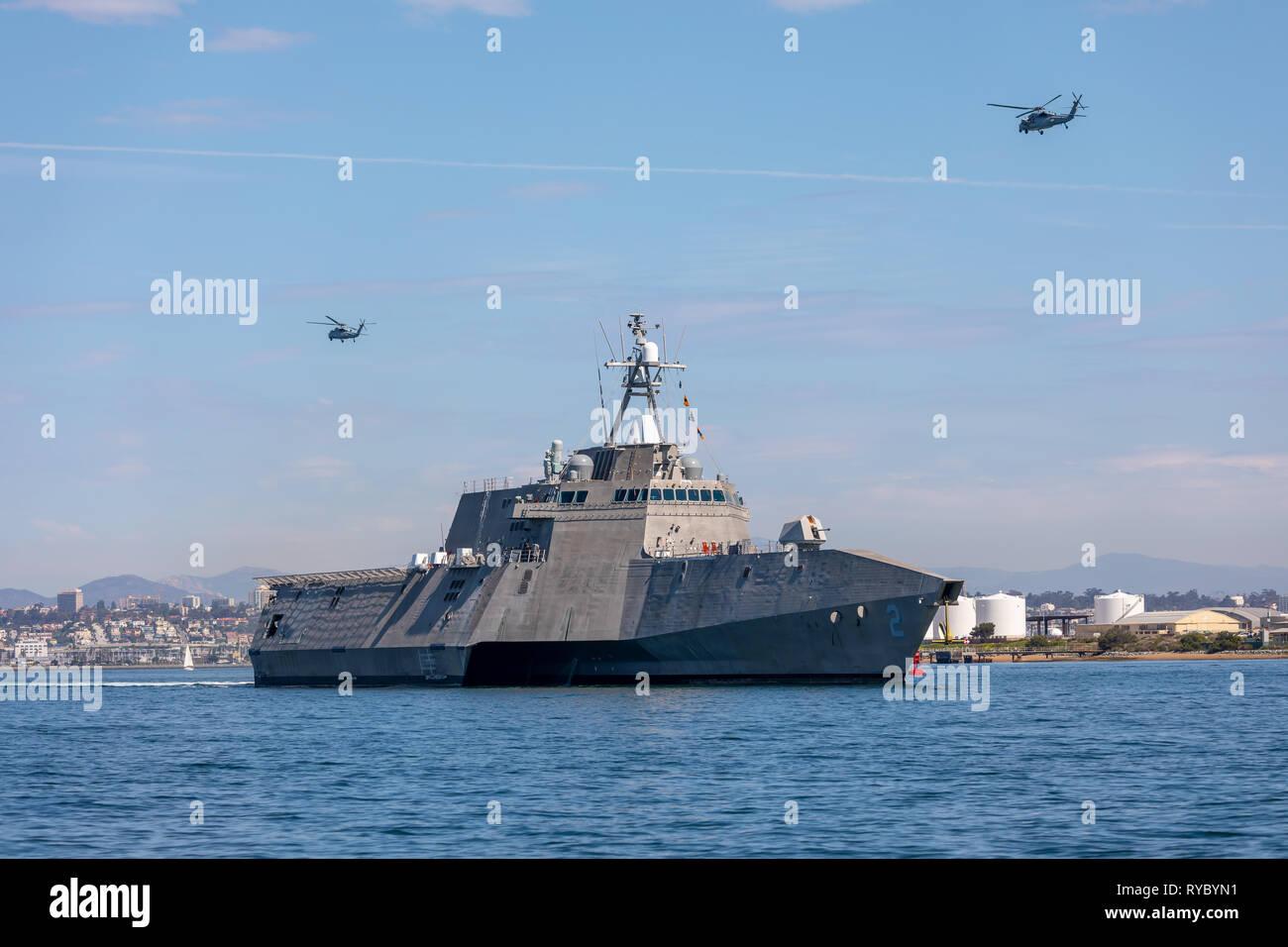 USS Indépendance Navire de combat littoral Photo Stock