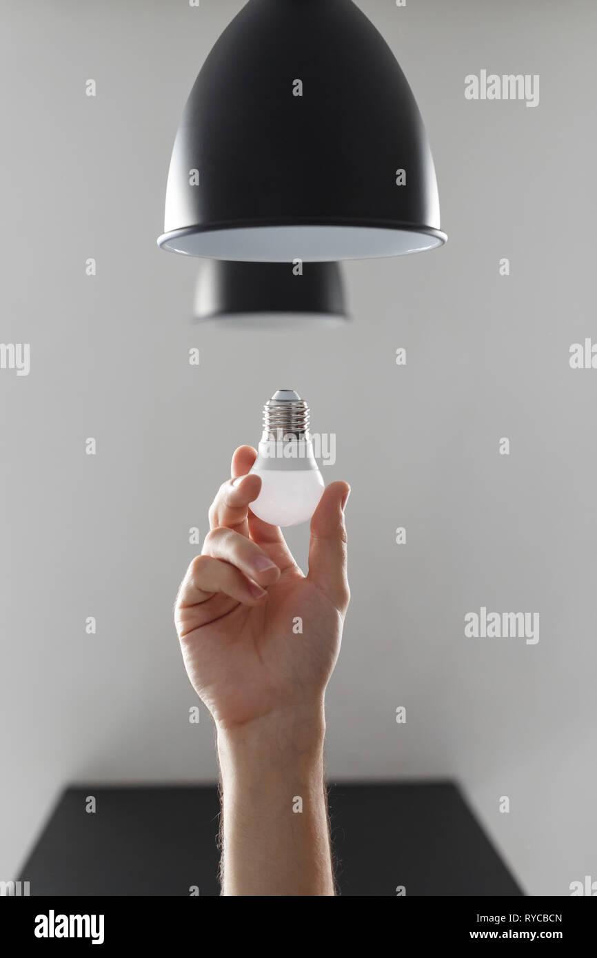 Led Plancher Noir Pour Couleur Changer En De L'ampoule Lampe OuPXkZiT