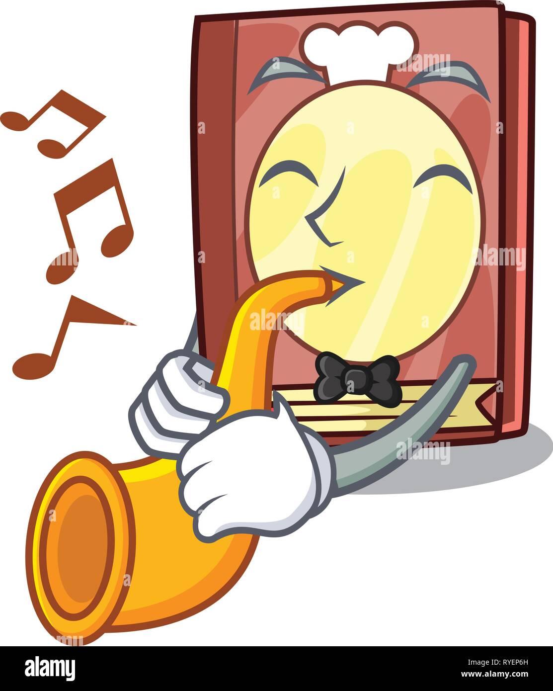 Trompette Avec Livre De Recettes Dans La Forme De Dessin