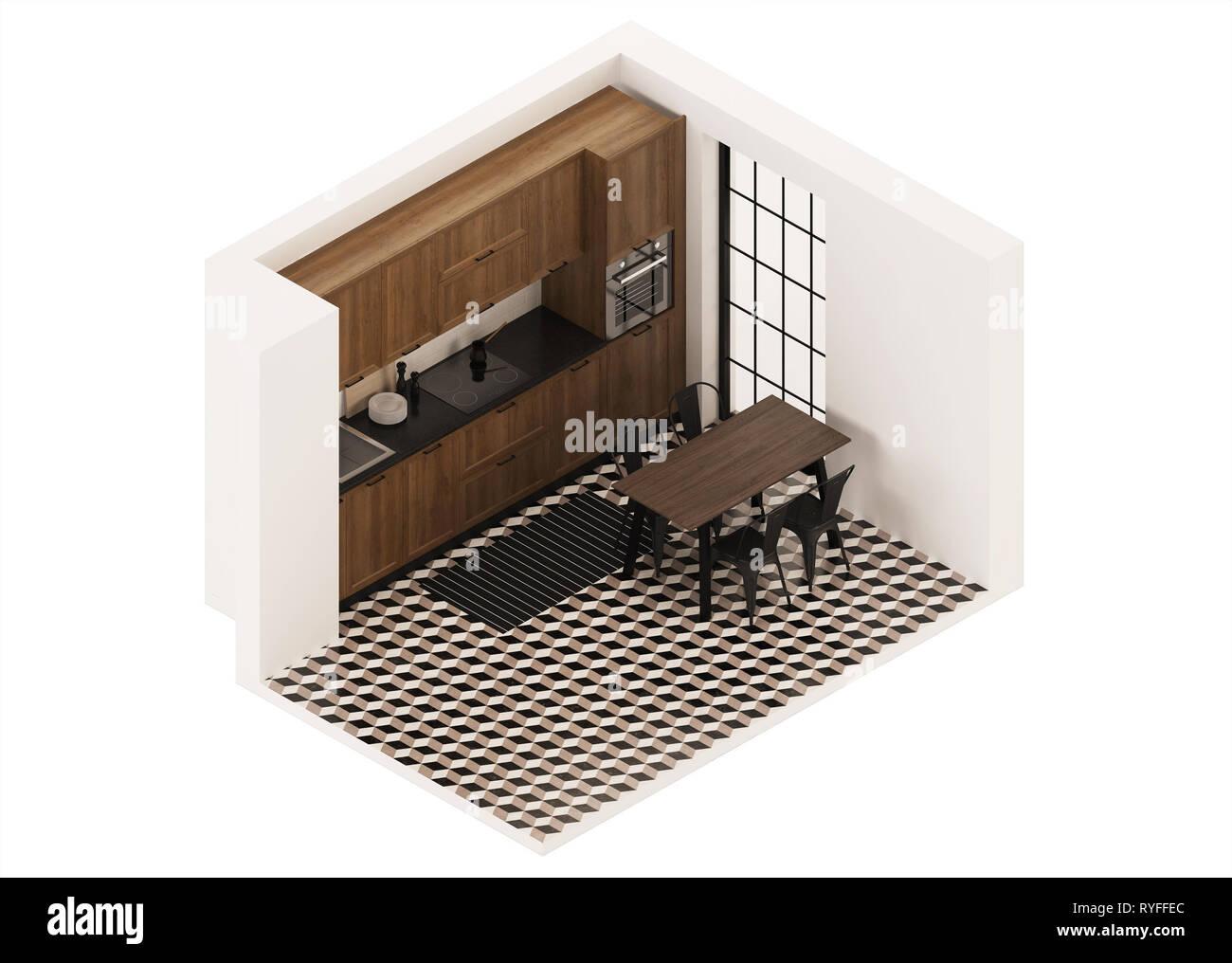 Cuisine Moderne Couleur Violet l'intérieur moderne de la chambre avec une cuisine de
