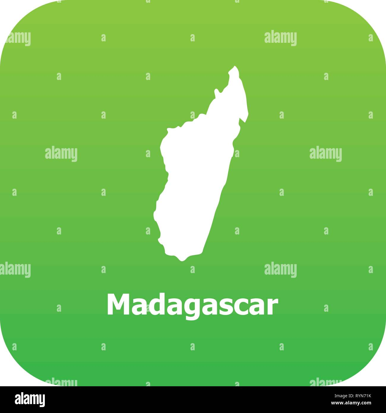 Madagascar Carte Simple.L Icone De La Carte De Madagascar Le Style Simple Vecteurs