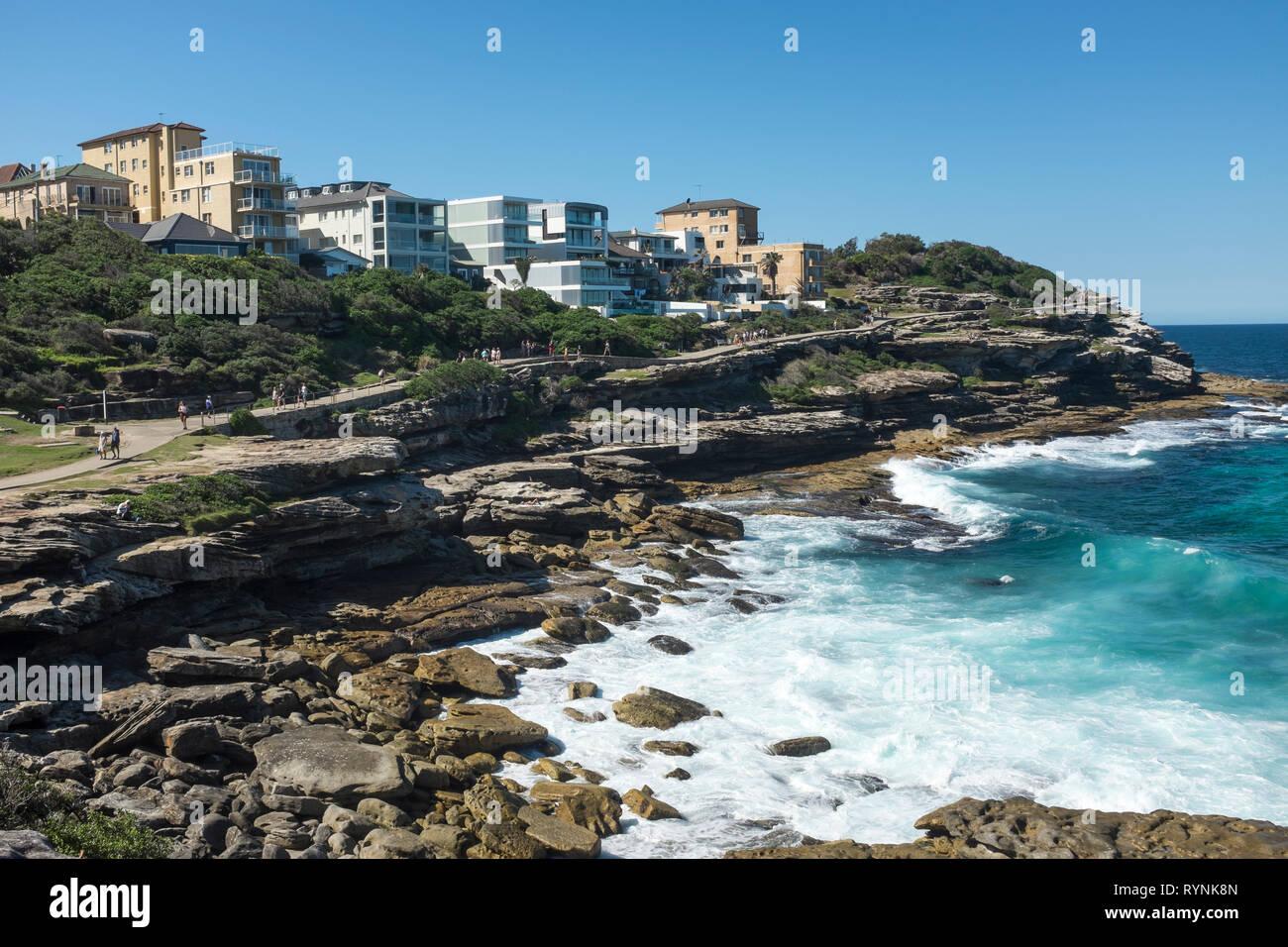 Promenade côtière de Bondi à Coogee, Sydney, NSW, Australie Banque D'Images