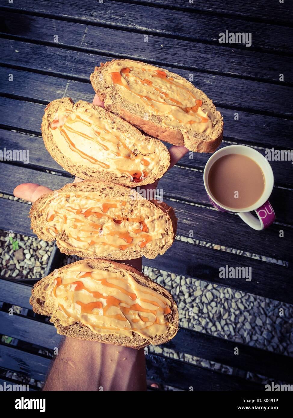 Déjeuner rapide. Photo Stock