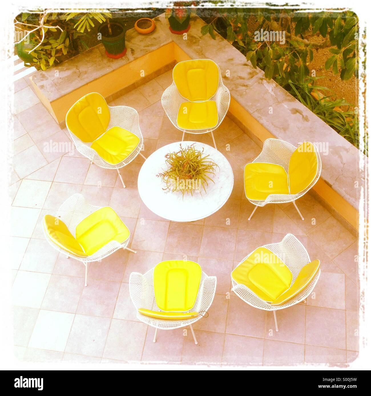 Cercle jaune Photo Stock