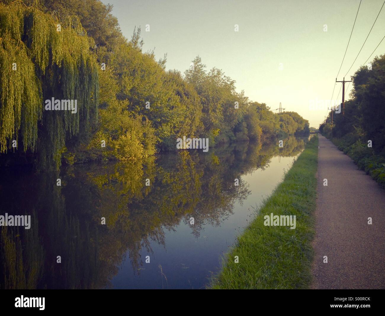 D'eau et arbres Photo Stock