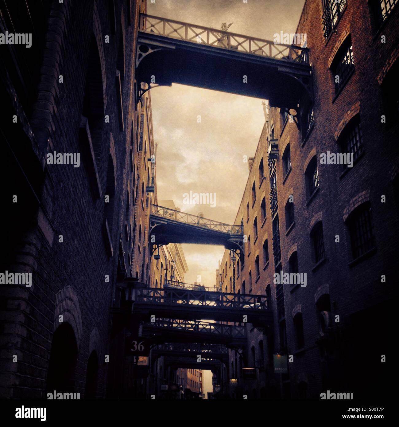 Les bâtiments de l'entrepôt à Butler's Wharf London UK Photo Stock