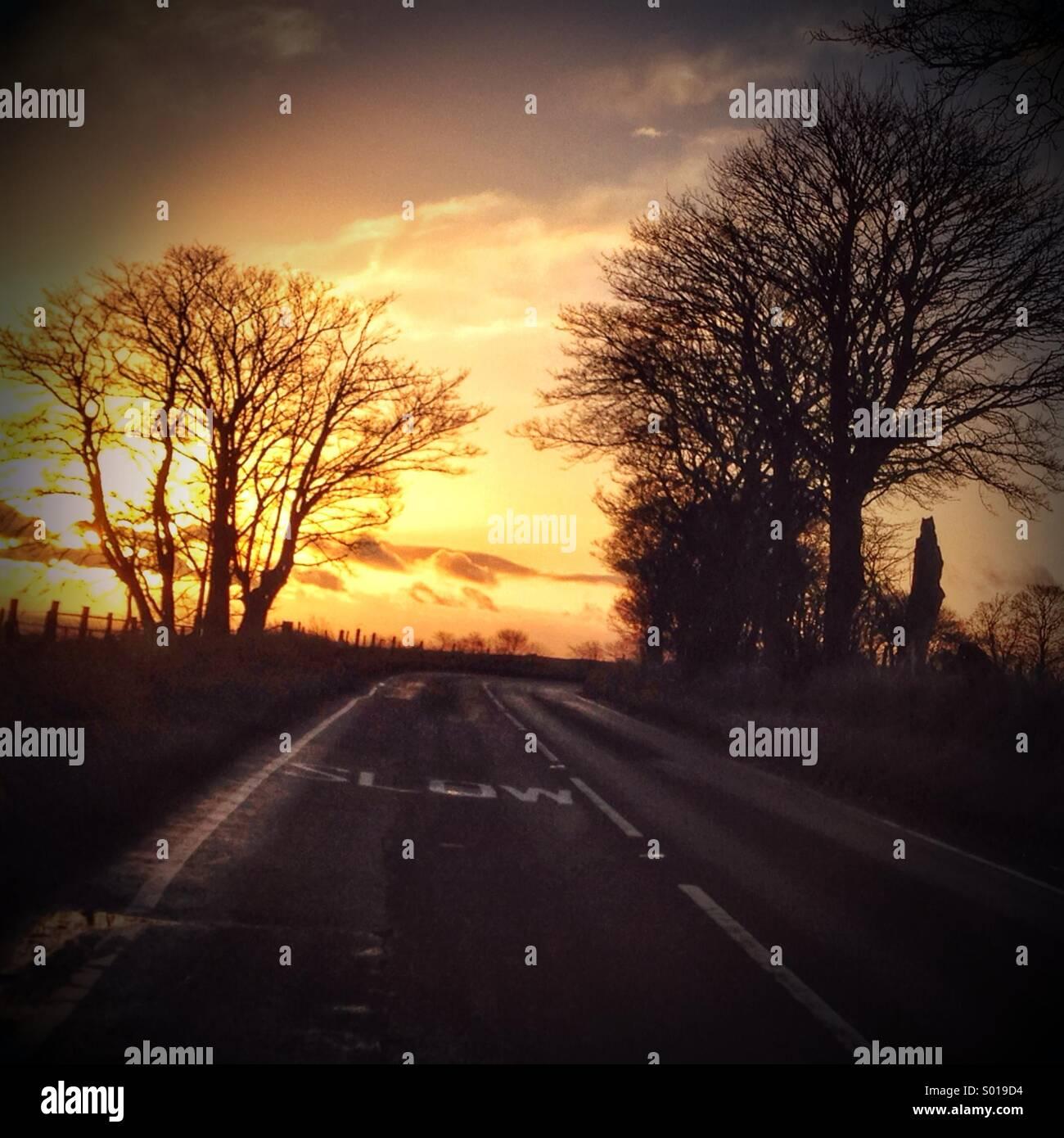 Route lente. Photo Stock